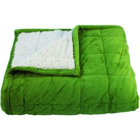 Beránková deka Sandra zelená, 150 x 200 cm