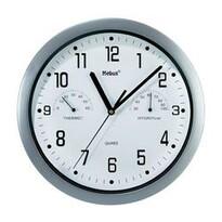 Analogové nástěnné hodiny s teploměrem/vlhkoměrem