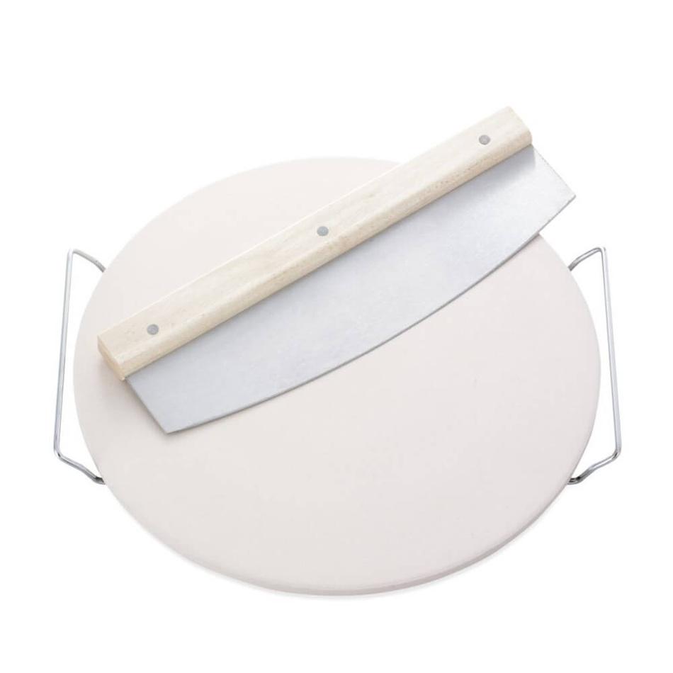 LEIFHEIT kameň na pečenie pizzy guľatý vrátane krájača (03159)