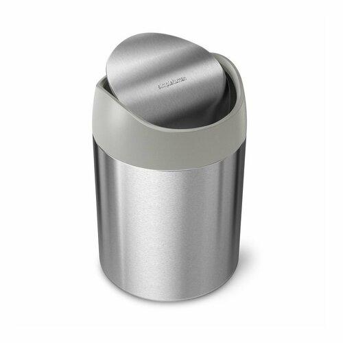 Simplehuman odpadový koš na stůl MINI 1,5 l, nerez