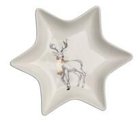 Altom Porcelánový servírovací talířek Hvězda Nordic Forest Deer 17,5 cm