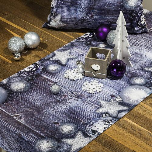 Karácsonyi díszek terítő, 85 x 85 cm