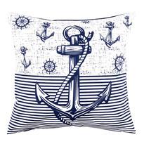 Povlak na polštářek Navy, 40 x 40 cm