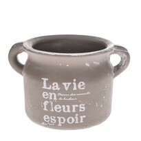 La vie kerámia virágtartó kaspó, barna, 18,5 cm