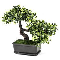 Sztuczne drzewko Bonsai w doniczce, zielony