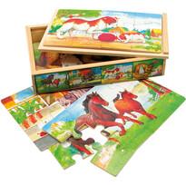Puzzle în cutie Bino Animăluțe