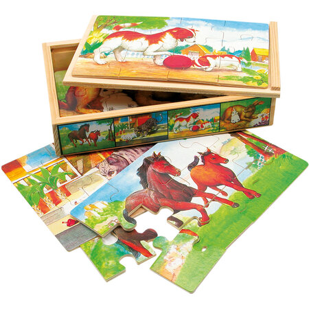 Bino Puzzle v krabičce Zvířátka