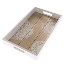Taca drewniana Mandala, 40 x 24 x 5 cm