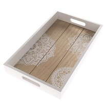 Tavă din lemn Mandala, 40 x 24 x 5 cm