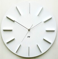Ceas de perete design Future Time FT2010WH Round  white, pr. 40 cm
