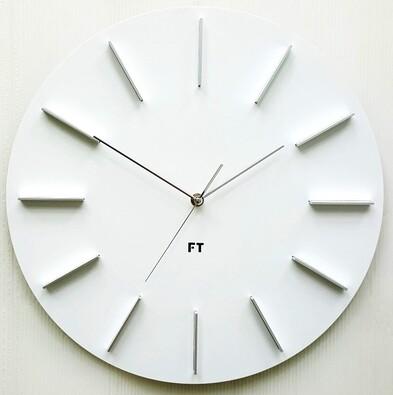 Future Time FT2010WH Round white Design falióra, átmérő 40 cm