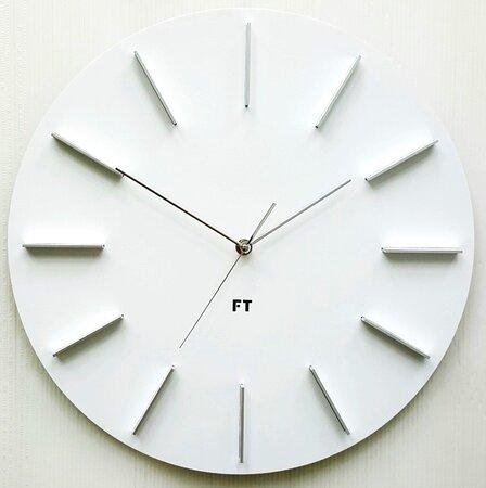 Future Time FT2010WH Round white Designerski zegar ścienny, 40 cm