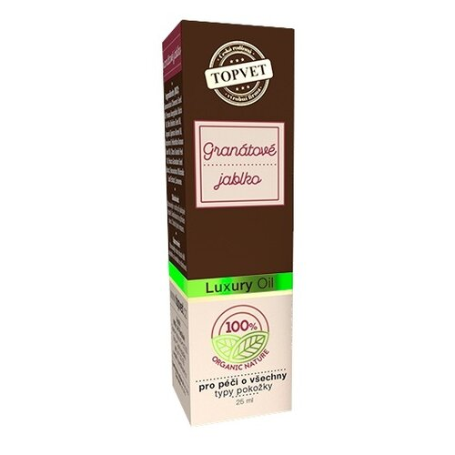 TOPVET Luxusný pleťový olej Granátové jablko, 25 ml