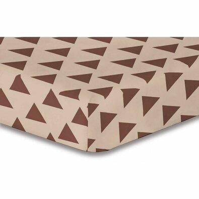 DecoKing Prześcieradło Triangles brązowe S2, 180 x 200 cm