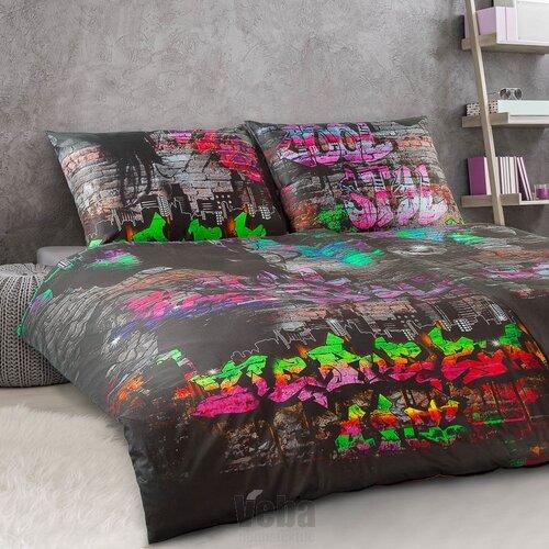 Veba Saténové povlečení GEON Grafiti Art Street Life, 140 x 200 cm, 70 x 90 cm
