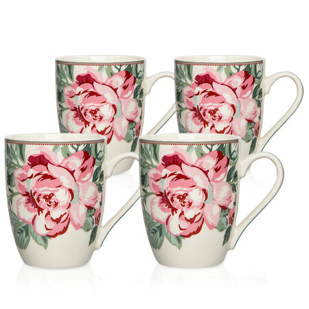 Set căni Altom Paris Rose, 4 piese, 320 ml, alb