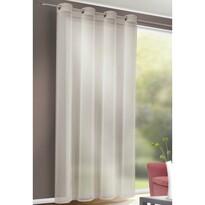 Till függöny karikákkal szürke, 140 x 245 cm