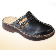 Dámské pantofle s plnou špičkou, černá, 41
