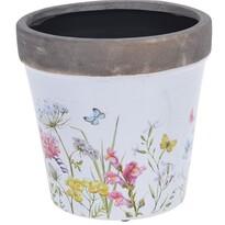 Doniczka ceramiczna Spring Flowers, 16 x 15,8 cm