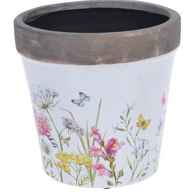 Keramický kvetináč Spring Flowers, 16 x 15,8 cm