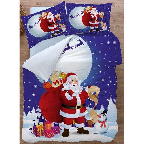 BedTex Bavlnené obliečky Santa 3D, 140 x 200 cm, 70 x 90 cm