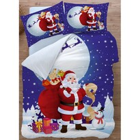Santa 3D pamut ágynemű, 140 x 200 cm, 70 x 90 cm