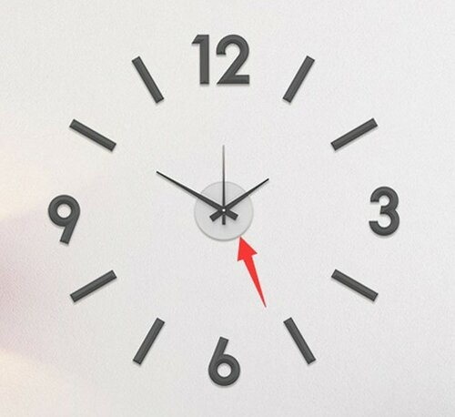 Nástěnné nalepovací hodiny Galant 60 cm, stříbrná