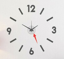 Galant fali öntapadós óra, 60 cm, ezüst