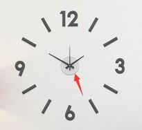 Zegar ścienny do naklejenia Galant 60 cm, srebrny