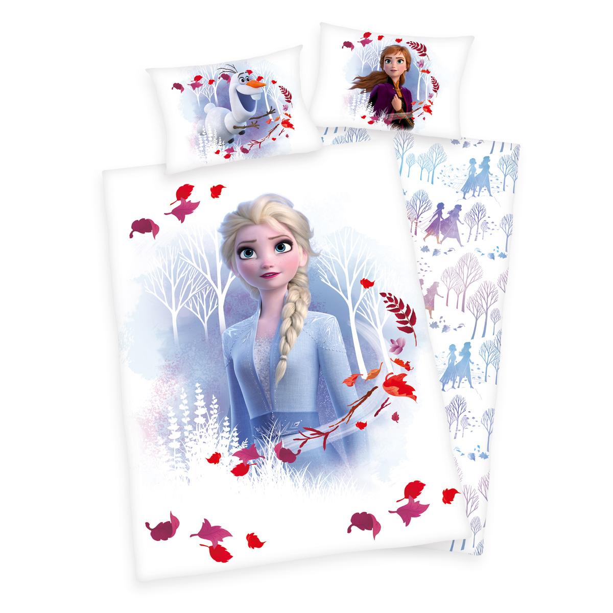 Bawełniana pościel dziecięca do łóżeczka Frozen 2 Believe journey, 100 x 135 cm, 40 x 60 cm