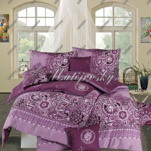 Matějovský bavlnené obliečky Afrodita Violet, 140 x 220 cm, 70 x 90 cm