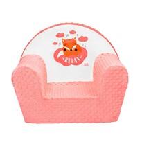 Fotoliu copii New Baby Minky Fox, somon, 42 x 53 cm