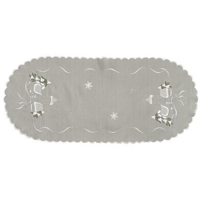 Vánoční ubrus chaloupky šedá, 40 x 90 cm