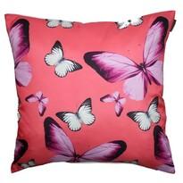 Domarex Mała poduszka Butterfly różowa, 40 x 40 cm