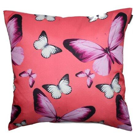 Domarex Vankúšik Butterfly ružová, 40 x 40 cm