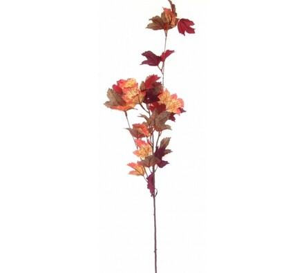 Podzimní větev s javorovými listy - fialová