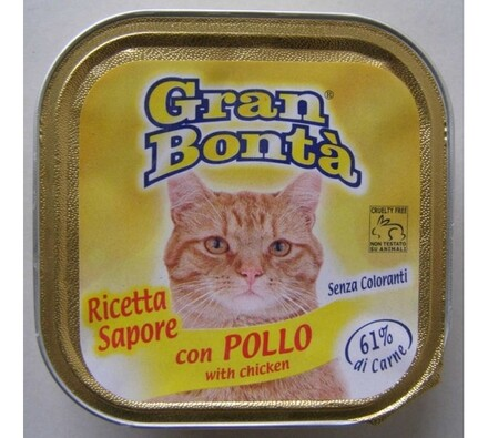Paštéta Gran Bonta s kuracím mäsom pre mačky, 100g
