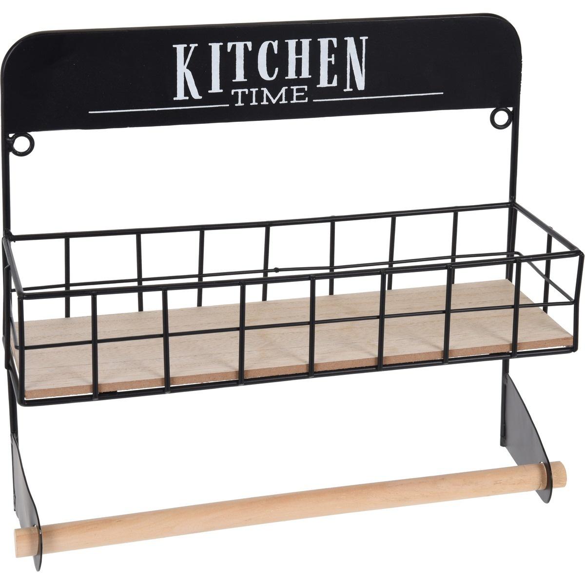 Koopman Držák na kuchyňské utěrky s košíkem