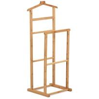 Wieszak na garnitur Paul, bambus, 39 x 35 x 103 cm