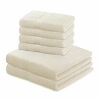 DecoKing Komplet ręczników Marina kremowy, 4 szt. 50 x 100 cm, 2 szt. 70 x 140 cm