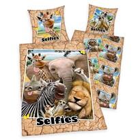 Bavlnené obliečky Zoo Selfie, 140 x 200 cm, 70 x 90 cm