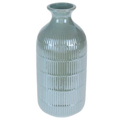 Loarre váza, zöld, 10,5 x 22,5 cm