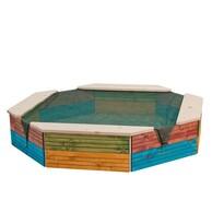 Woody Pískoviště dřevěné barevné, 130 x 130 x 26 cm