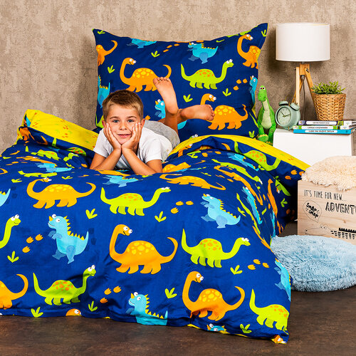 4Home Dino pamut gyermekágynemű, 140 x 200 cm, 70 x 90 cm
