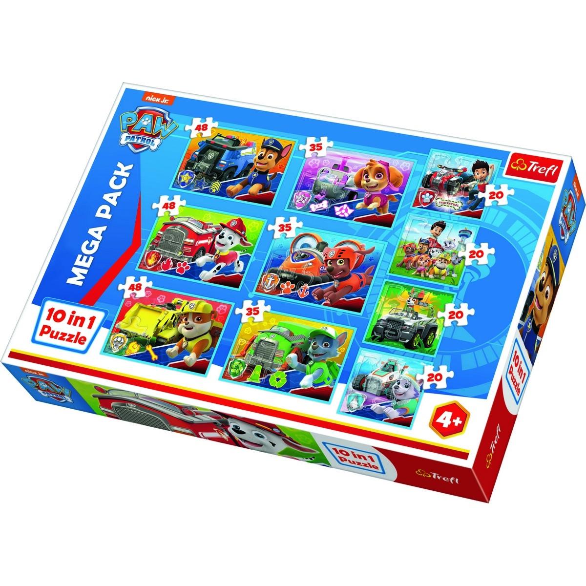 TREFL Puzzle Labková patrola 10v1