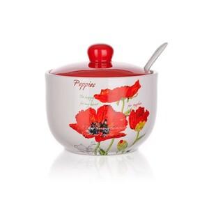 Banquet Red Poppy cukřenka s lžičkou