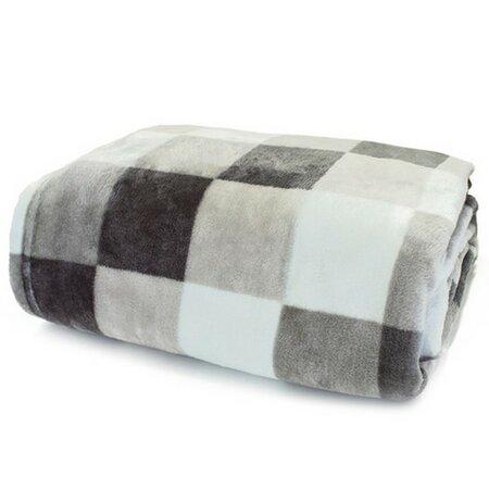 Domarex XXL Lorgia Kocka takaró/ágytakaró, szürke, 200 x 220 cm