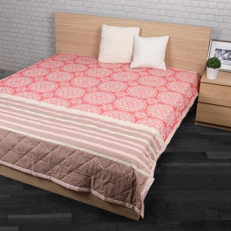 Prehoz na posteľ Morbido lososová, 240 x 200 cm