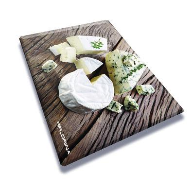 Florina Skleněná krájecí deska Sýry 40 x 30 cm