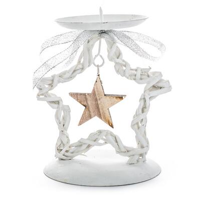 Stojan na svíčku ratanová hvězda